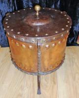 Arts & Crafts Steel & Copper Coal Bucket (2 of 11)