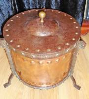 Arts & Crafts Steel & Copper Coal Bucket (11 of 11)