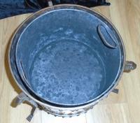 Arts & Crafts Steel & Copper Coal Bucket (5 of 11)