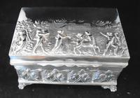Silver Embossed Rectangular Box Chester 1901 (2 of 12)