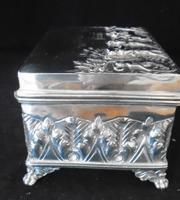 Silver Embossed Rectangular Box Chester 1901 (5 of 12)