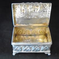 Silver Embossed Rectangular Box Chester 1901 (8 of 12)