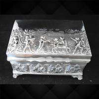 Silver Embossed Rectangular Box Chester 1901