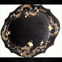 Papier Mache Tray by Jennens & Bettridge C.1850