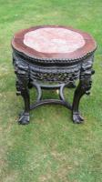 Antique Chinese Carved Rosewood Jardiniere Stand