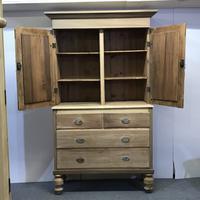 Scottish Edwardian Pine Linen Press (2 of 7)