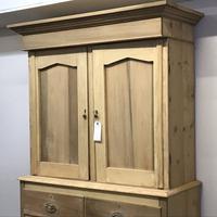 Scottish Edwardian Pine Linen Press (5 of 7)