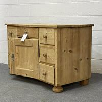Large Old Pine Sideboard with Drawers c.1910 (2 of 6)
