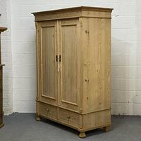 Small Double Antique Pine Wardrobe 'Dismantles' (2 of 7)