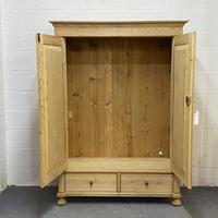 Small Double Antique Pine Wardrobe 'Dismantles' (4 of 7)