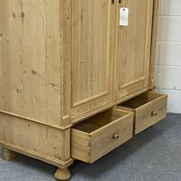 Small Double Antique Pine Wardrobe 'Dismantles' (5 of 7)