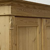 Small Double Antique Pine Wardrobe 'Dismantles' (6 of 7)