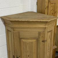 Large Very Old Pine Floor Standing Corner Cupboard (6 of 7)