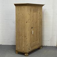 Very Old Pine Armoire / Childs Wardrobe (3 of 8)