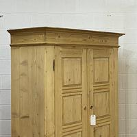 Antique Double Pine Wardrobe with Bottom Drawers 'Dismantles' (5 of 8)