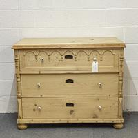 Large Antique Chest of 3 Drawers