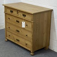 Antique Pine Chest of Drawers C.1920 (2 of 6)