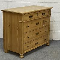 Antique Pine Chest of Drawers C.1920 (3 of 6)