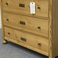 Antique Pine Chest of Drawers C.1920 (4 of 6)