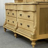"""""""His N Hers"""" Antique Victorian Pine Serpentine Chest of Drawers with Large Gallery Back Stand (3 of 7)"""