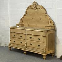 """""""His N Hers"""" Antique Victorian Pine Serpentine Chest of Drawers with Large Gallery Back Stand (6 of 7)"""
