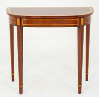 Mahogany Console Table with Hepplewhite Influences