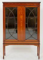 Mahogany Sheraton Revival Display Cabinet c.1880
