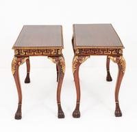 Pair of Mahogany & Gilt Console Tables c.1920 (6 of 9)