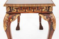 Pair of Mahogany & Gilt Console Tables c.1920 (5 of 9)