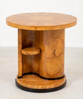 Stylish Figured Ash Art Deco Occasional Table