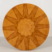 Stylish Figured Ash Art Deco Occasional Table (5 of 9)