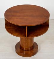 Art Deco Sycamore Cylindrical Occasional Table (3 of 5)