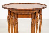 Queen Anne Style Nest of 3 Walnut Tables c.1920 (7 of 9)
