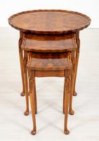 Queen Anne Style Nest of 3 Walnut Tables c.1920 (9 of 9)