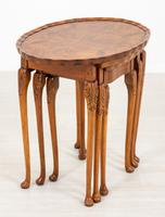Queen Anne Style Nest of 3 Walnut Tables c.1920 (3 of 9)