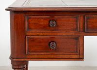 Victorian 5 Drawer Mahogany Writing Table (3 of 7)
