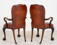 Good Pair of Leather Queen Anne Style Library Chairs (5 of 8)