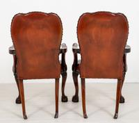 Good Pair of Leather Queen Anne Style Library Chairs (6 of 8)