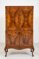 Walnut Queen Anne Style Drinks Cabinet (2 of 9)
