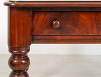 Victorian Mahogany 2 Drawer Writing Table (4 of 9)