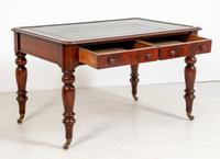 Victorian Mahogany 2 Drawer Writing Table (9 of 9)