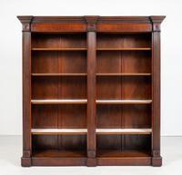 Large Mahogany Open Bookcase c.1920 (2 of 9)
