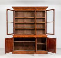 Victorian Walnut 3 Door Library Bookcase (6 of 8)