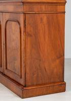 Victorian Walnut 3 Door Library Bookcase (8 of 8)
