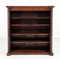 Victorian Rosewood Large Open Bookcase of Inverted Form (2 of 6)