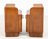 Pair of French Walnut Art Deco Bedside Cabinets (4 of 8)