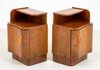 Pair of French Walnut Art Deco Bedside Cabinets (6 of 8)