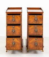 Pair of Victorian Walnut Bedside Cabinets (2 of 8)