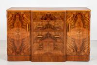Superb Art Deco Figured Walnut Sideboard (2 of 8)