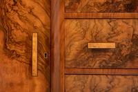 Superb Art Deco Figured Walnut Sideboard (5 of 8)